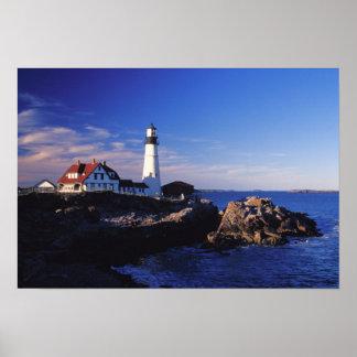 NA、米国、メイン。 ポートランドヘッド灯台 ポスター