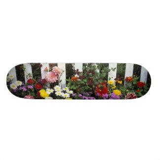 NA、米国、ワシントン州、Sammamishの白いピケット スケートボード