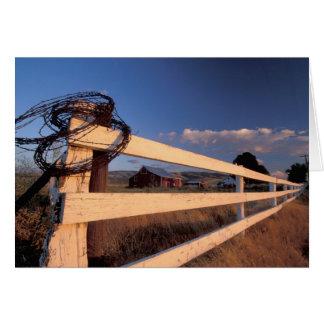 NA、米国、ワシントン州、Walla Wallaの近くの、塀、 カード