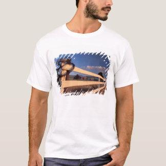 NA、米国、ワシントン州、Walla Wallaの近くの、塀、 Tシャツ