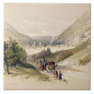 Nablousへの入口、1839年は4月17日、41をのためのめっきします タイル