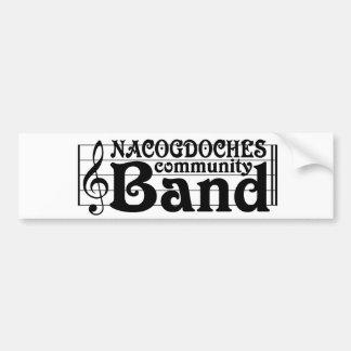 Nacogdochesのコミュニティバンドバンパーステッカー バンパーステッカー
