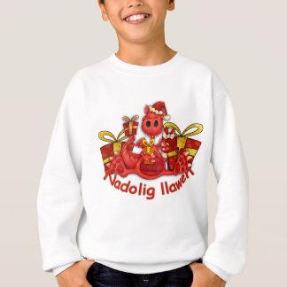 Nadoligのllaweのクリスマス長いSleve T スウェットシャツ