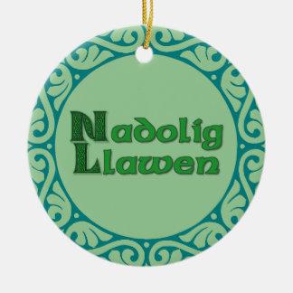Nadolig Llawen -ウェールズのクリスマスのオーナメント セラミックオーナメント