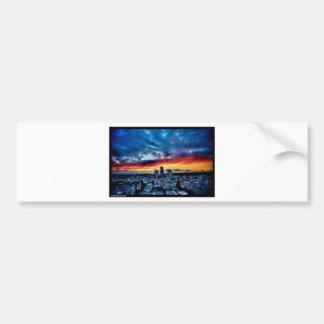 Naikマイケルの写真撮影-サンタモニカ上の日没 バンパーステッカー