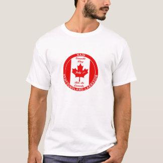 NAINニューファウンドランドのラブラドールのカナダ日のTシャツ Tシャツ