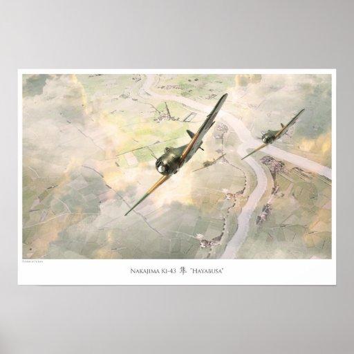 Nakajima Ki-43 Hayabusa ポスター