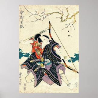 Nakamura Shikan 1818年俳優 ポスター