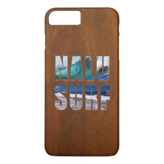 Nalu波のハワイの波の模造のなKoa木サーフボード iPhone 8 Plus/7 Plusケース