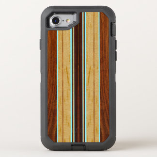 Nalu Hou模造のなKoa木サーフボード オッターボックスディフェンダーiPhone 8/7 ケース
