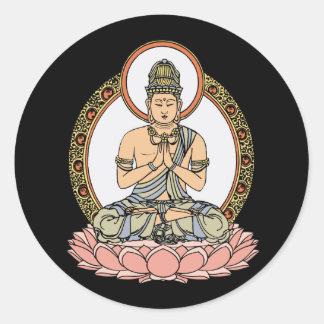 Namaskara Mudra仏 ラウンドシール
