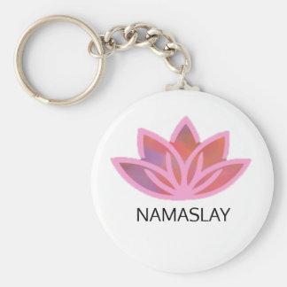 Namaslayのピンクの多彩なはすKeyChain キーホルダー