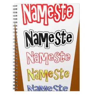 NAMESTEの記号のインドのヒンズー教の挨拶 ノートブック