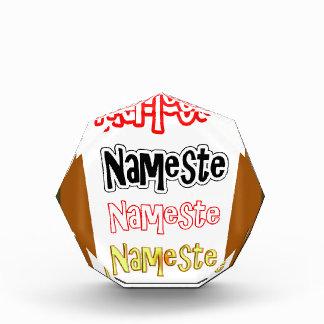NAMESTEの記号のインドのヒンズー教の挨拶 表彰盾