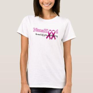 NanaHood -ピンクのリボンのロゴ Tシャツ