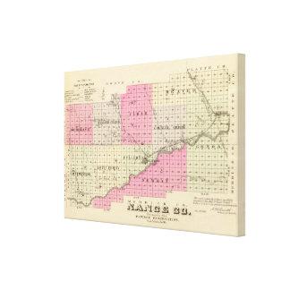 Nance郡、ネブラスカ キャンバスプリント