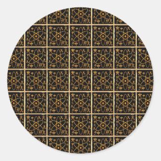 NANO技術原子の原子核金金ゴールド ラウンドシール