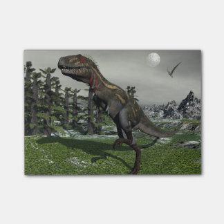Nanotyrannusの恐竜- 3Dは描写します ポストイット
