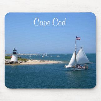 Nantucketのケープコッドの灯台及び港のマウスパッド マウスパッド