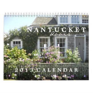 Nantucketのドア2013のカレンダー カレンダー