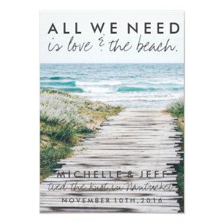 Nantucketのビーチは発表結婚式の駆け落ちしました カード