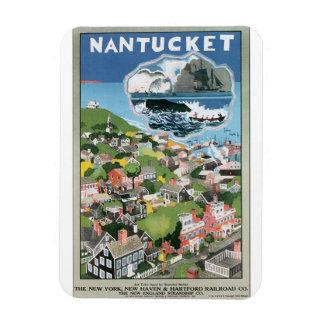 Nantucketのヴィンテージ旅行ポスターアートワーク マグネット