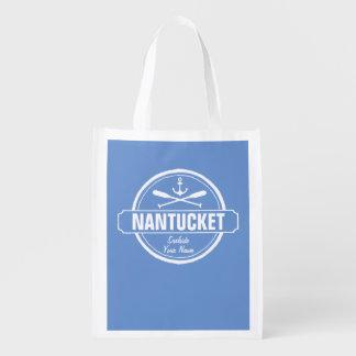 NantucketのMAの名前入りな名前、航海のないかり エコバッグ