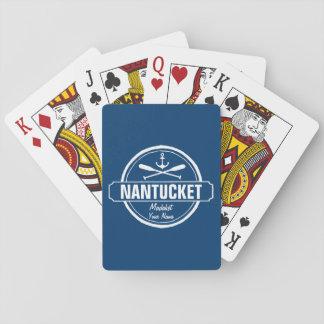 NantucketのMAの名前入りな名前、航海のないかり トランプ