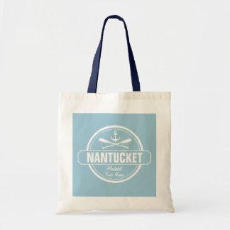 NantucketのMAの名前入りな名前、航海のないかり トートバッグ