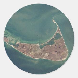 Nantucket衛星写真 ラウンドシール