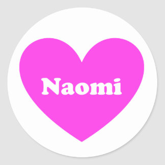 Naomi 丸形シール・ステッカー