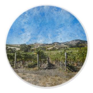 Napa Valleyのブドウ園 セラミックノブ
