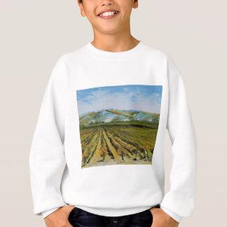 Napa Valleyのワインの里カリフォルニアの色 スウェットシャツ