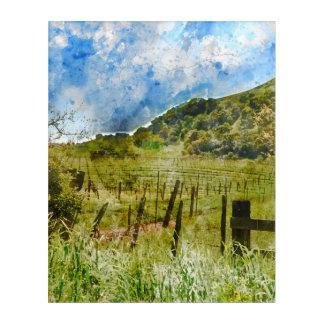 Napa Valleyの美しいブドウ園 アクリルウォールアート