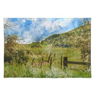 Napa Valleyの美しいブドウ園 ランチョンマット
