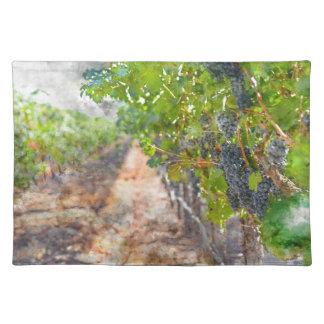 Napa Valleyカリフォルニアのつる植物のブドウ ランチョンマット