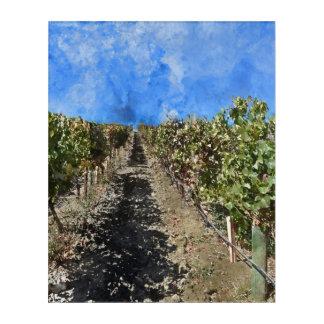 Napa Valleyカリフォルニアのブドウ園 アクリルウォールアート