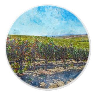 Napa Valleyカリフォルニアのブドウ園 セラミックノブ