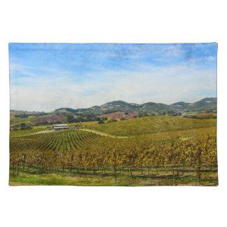 Napa Valleyカリフォルニアのブドウ園 ランチョンマット