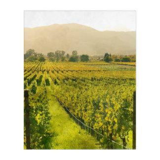 Napa Valleyカリフォルニアの秋のブドウ園 アクリルウォールアート
