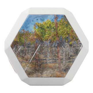 Napa Valleyカリフォルニアの秋のブドウ園 ホワイトBluetoothスピーカー