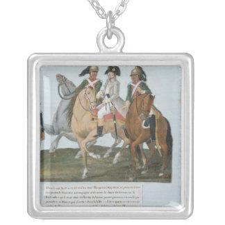 Napoleon BonaparteおよびVarsovianの歩哨 シルバープレートネックレス