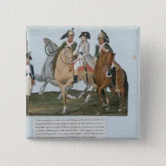 Napoleon BonaparteおよびVarsovianの歩哨 5.1cm 正方形バッジ