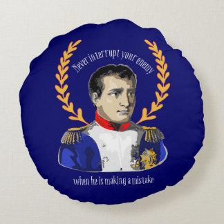 Napoleon Bonaparteからのアドバイス-すばらしい引用語句 ラウンドクッション