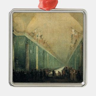 Napoleon Bonaparteのために与えられる宴会 シルバーカラー正方形オーナメント