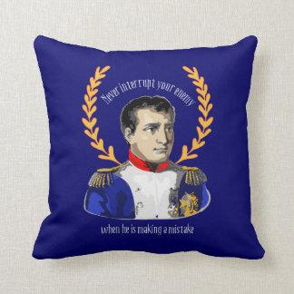 Napoleon Bonaparte -決してあなたの敵を中断しないで下さい クッション