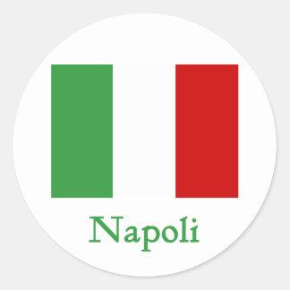 Napoliのイタリア人の旗 ラウンドシール