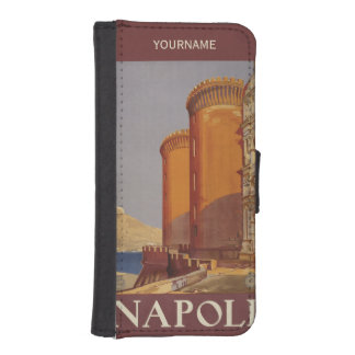 Napoliイタリアのヴィンテージ旅行カスタムな電話札入れ iPhoneSE/5/5sウォレットケース