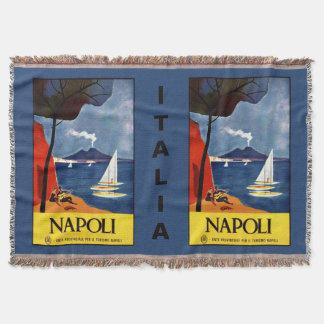 Napoli (ナポリ)のヴィンテージ旅行投球毛布 スローブランケット