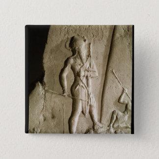 Naram罪の勝利の石碑 5.1cm 正方形バッジ